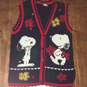 Snoopy & friends vintage sweater vest m/l